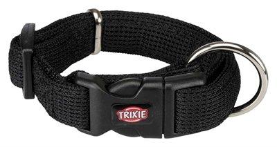 Trixie halsband hond comfort soft zwart