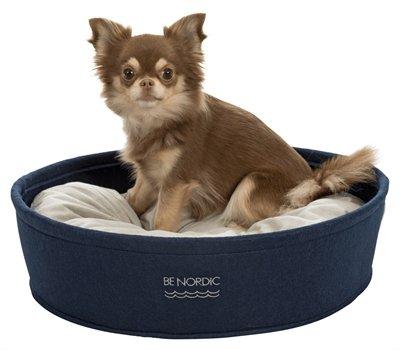 Trixie be nordic hondenmand vilt donkerblauw / beige