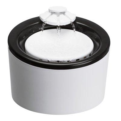 Trixie drinkfontein triple flow zwart / wit
