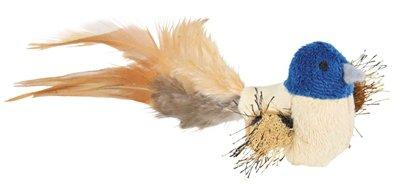Trixie vogel met veren pluche