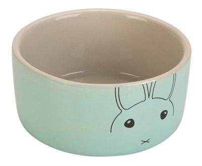 Beeztees voerbak konijn joela grijs / mint
