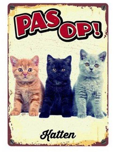 Plenty gifts waakbord blik katten