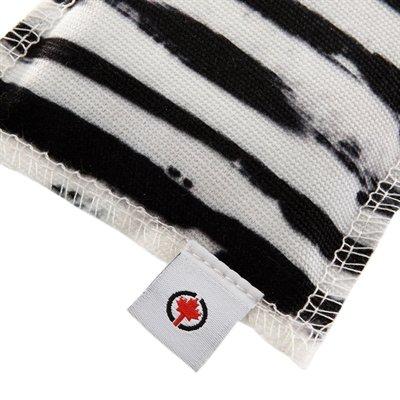 Canadian cat speelkussen zebra met catnip zwart / wit