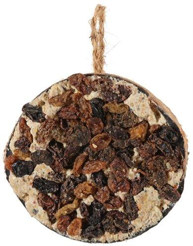 Zolux halve kokosnoot met vet en rozijnen