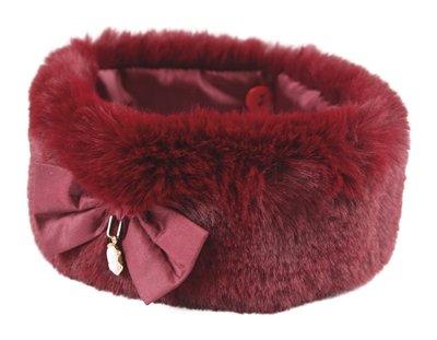 Croci halsband hond fancylady imitatiebont rood
