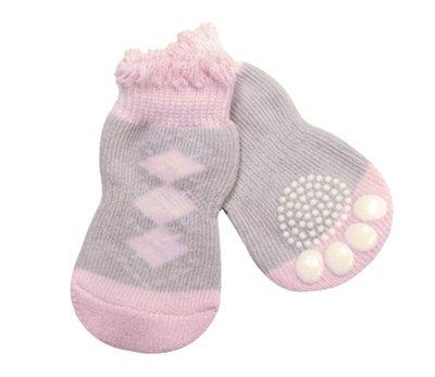 Croci sokken hond pink dream grijs / roze