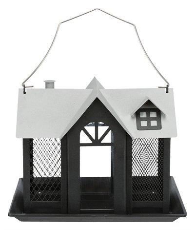 Trixie voederhuis villa metaal zwart