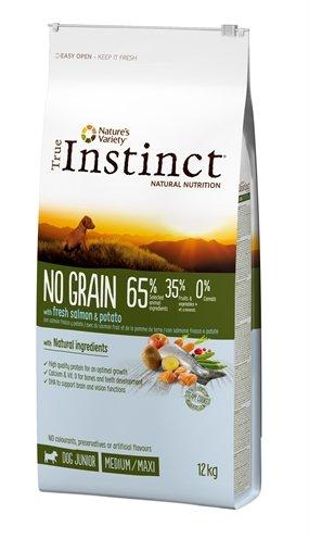 True instinct no grain medium junior salmon