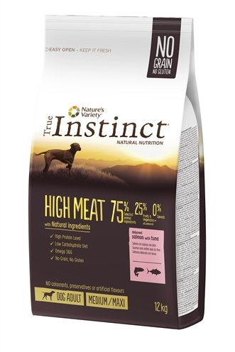 True instinct high meat medium adult salmon / tuna