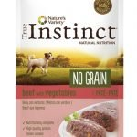 True instinct pouch no grain mini adult beef pate