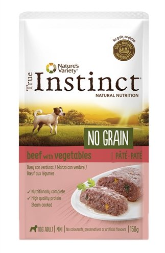 True instinct pouch no grain mini adult beef pate