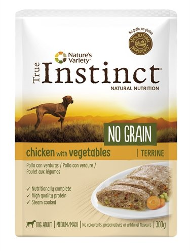 True instinct pouch no grain medium adult chicken terrine