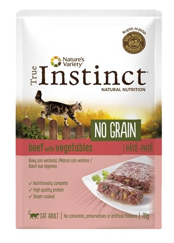 True instinct pouch no grain adult beef pate