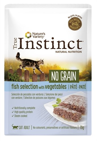True instinct pouch no grain adult fish pate