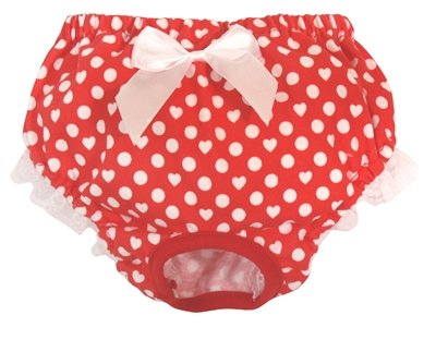 Croci periodiek broekje polka dot rood / wit