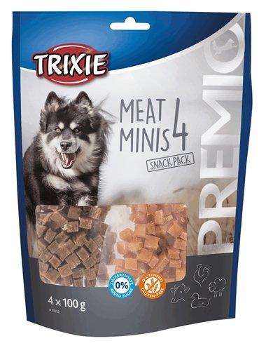 Trixie premio vlees minis kip / eend / rund / lam
