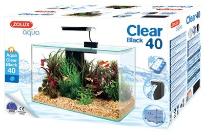 Zolux aquarium clear kit zwart
