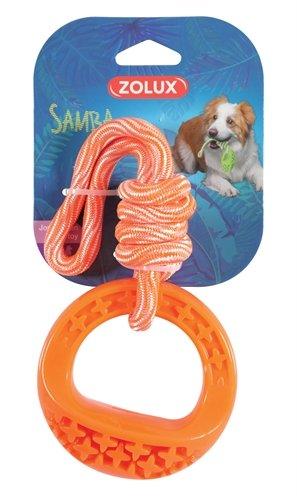 Zolux samba speelgoed tpr aan touw rond oranje