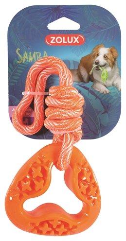Zolux samba speelgoed tpr aan touw triangel oranje