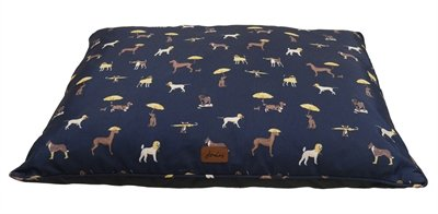 Joules hondenmand matras dog print