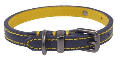 Joules halsband hond leer navy