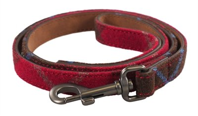 Joules hondenriem heritage tweed leer rood