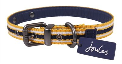 Joules halsband hond coastal navy / geel