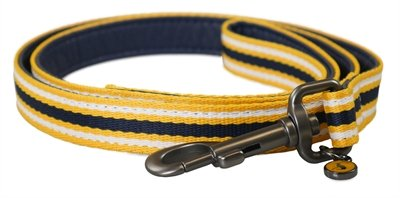Joules hondenriem coastal navy / geel