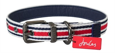 Joules halsband hond coastal gestreept rood