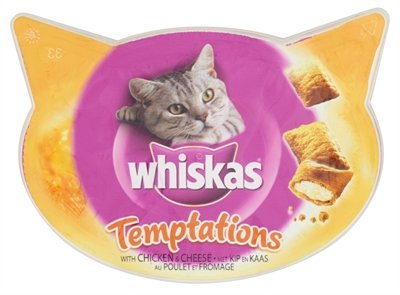 Whiskas snack temptations kip/kaas