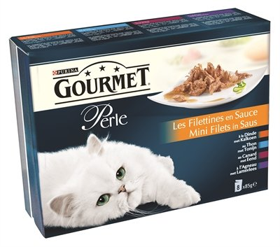 Gourmet perle 8-pack pouch mini filets in saus