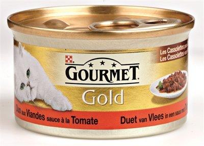 Gourmet gold cassolettes duet van vlees in saus met tomaten