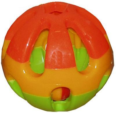 Plastic knaagdierbal+bel