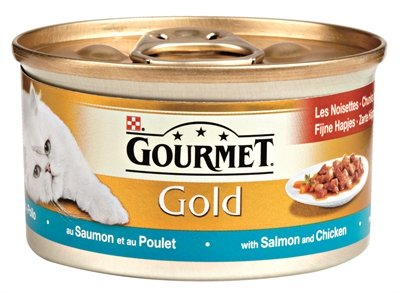 Gourmet gold fijne hapjes zalm / kip