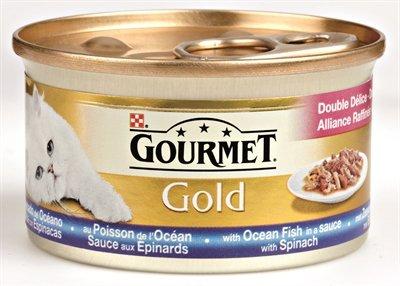 Gourmet gold luxe mix zeevis in saus met spinazie