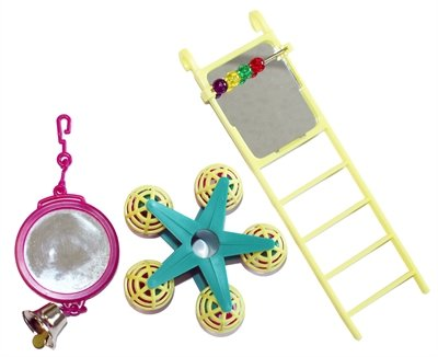 Happy pet bird toy mp spiegel/ladder/carousel