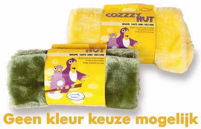 Happy pet vogelspeelgoed cozzzy hut assorti