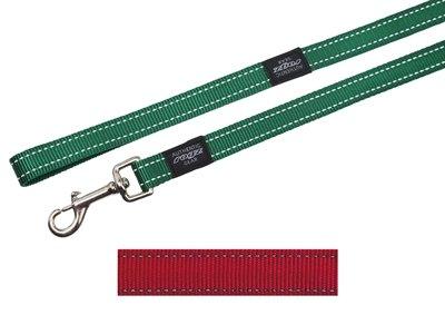 Rogz for dogs fanbelt long lijn rood