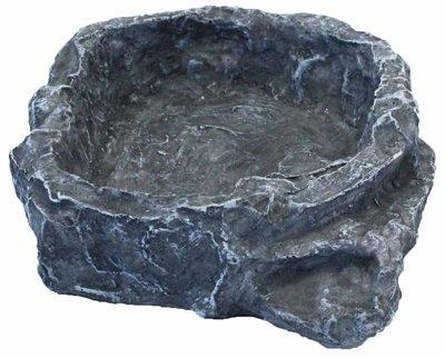 Komodo voerbak terraced grijs