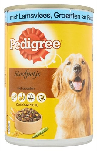 Pedigree blik adult stoofpotje lam / groenten / pasta