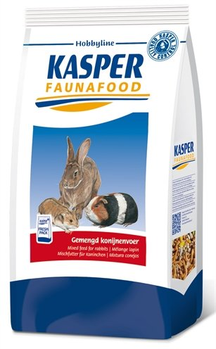 Kasper faunafood hobbyline gemengd konijnenvoer met rode wortel