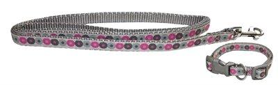 Little rascals puppy halsband met lijn roze