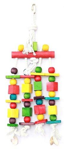 Happy pet speelgoed block n beads papegaai