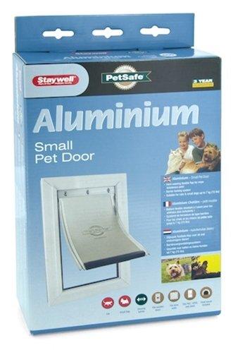 Petsafe kattenluik tot 7 kg aluminium wit