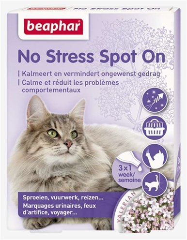 No stress spot on kalmeert en stimuleert goed gedrag kat